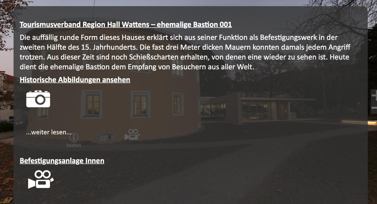 Informationen zum Bastionsgebäude