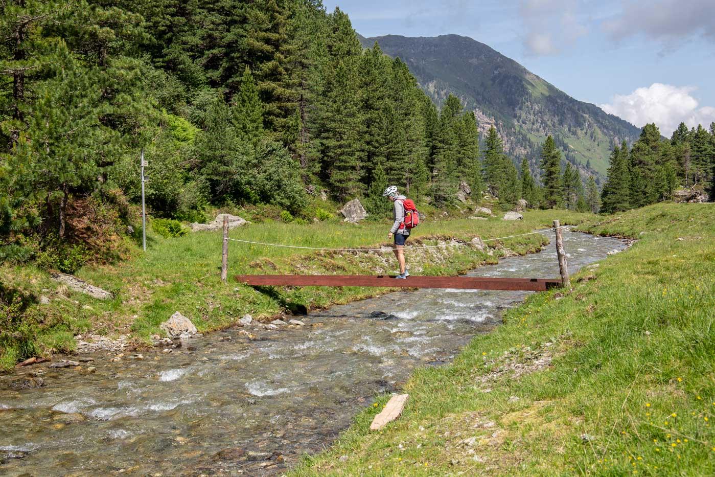 Mountainbike-Tour zu Steinkasern im Voldertal/Tirol