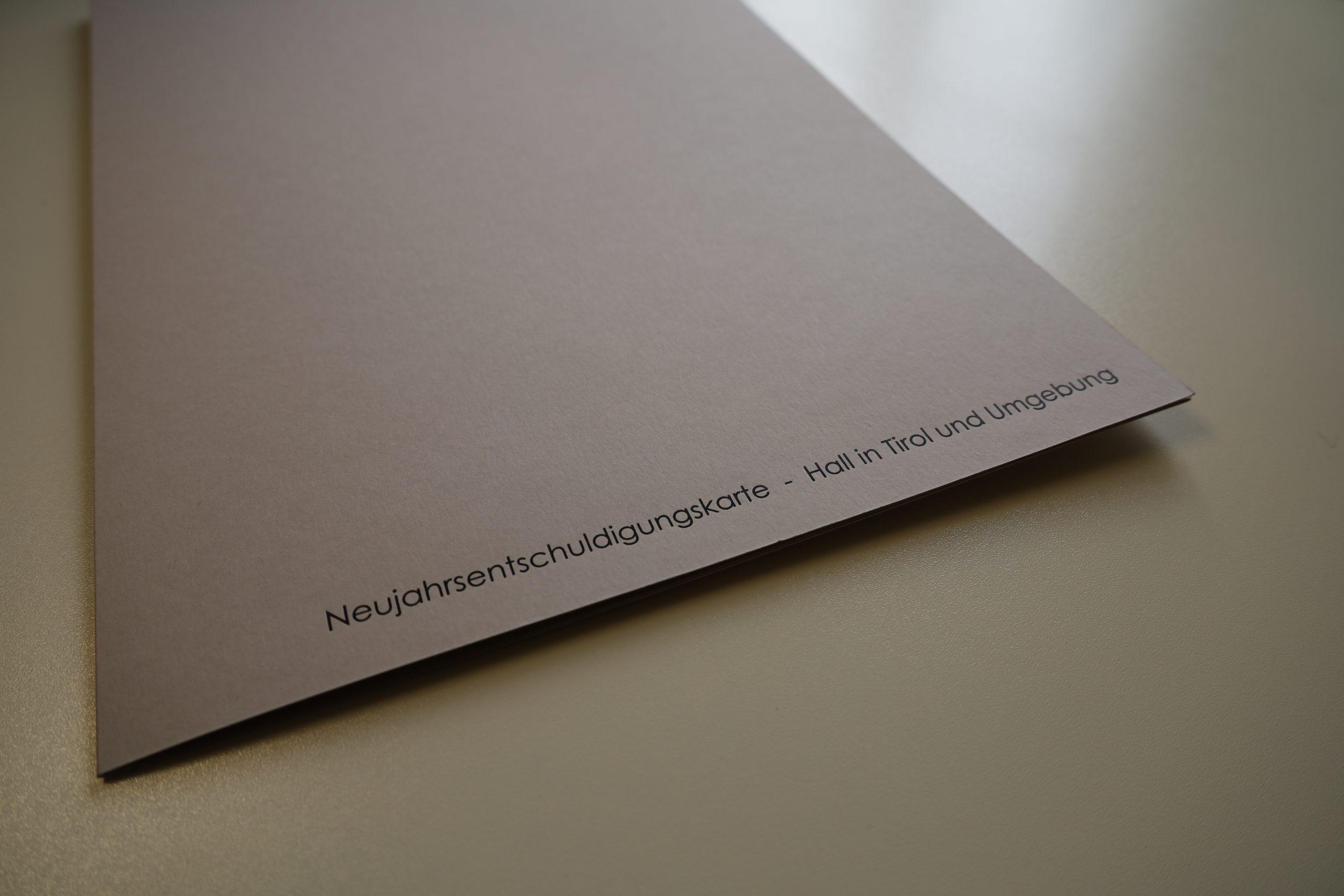 Neujahrs-Entschuldigungskarte 2021: Sinn- und kunstvoll schenken!